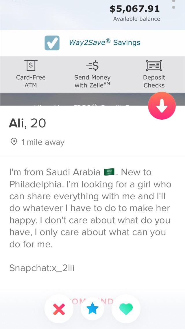 His Pictures Are Only His Bank Account Balances Talk About Desperate Tinder