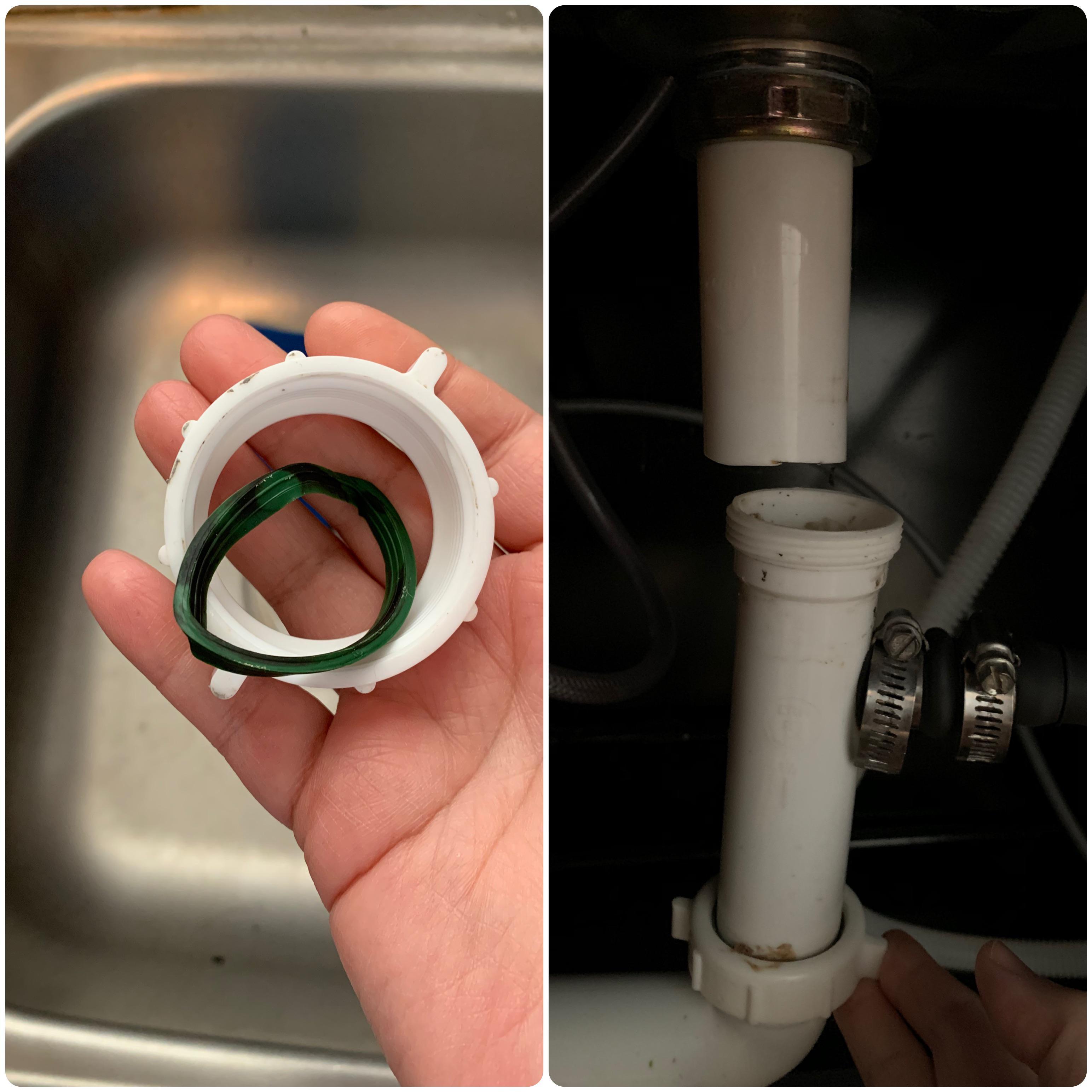 drain for my kitchen sink began leaking
