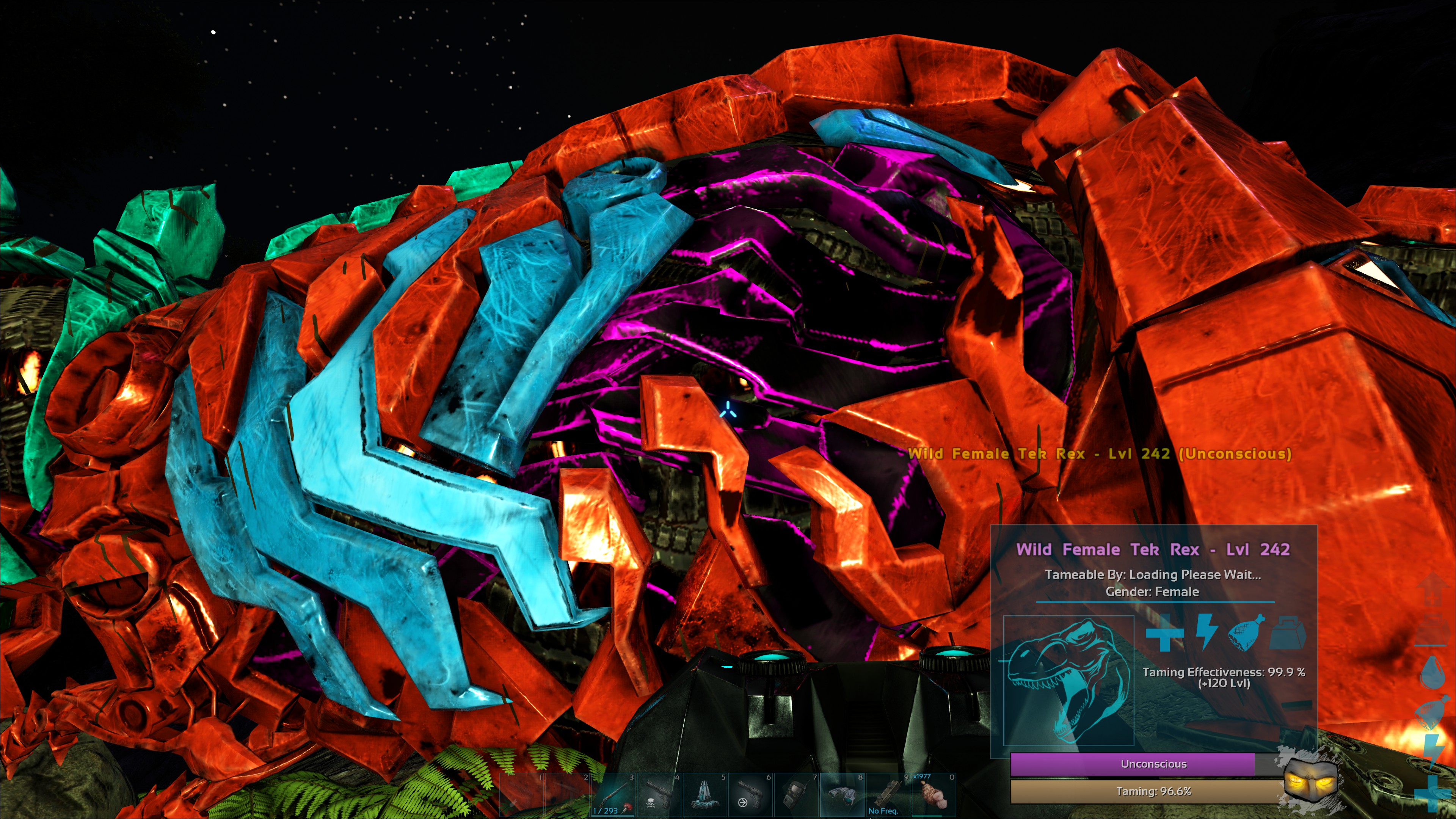 tek rex tamed ark