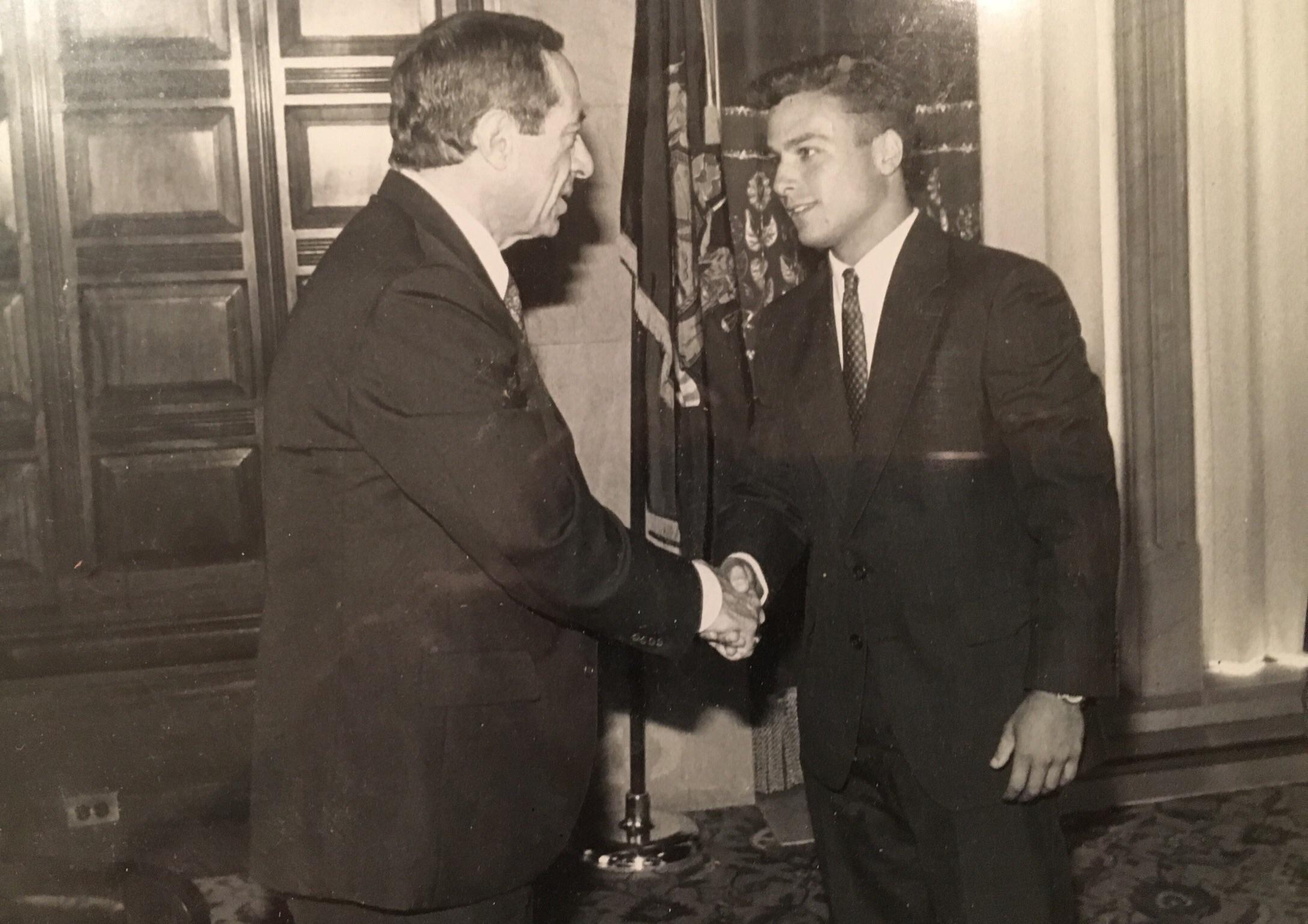 Meeting Former NY Governor Mario Cuomo 1991 OldSchoolCool