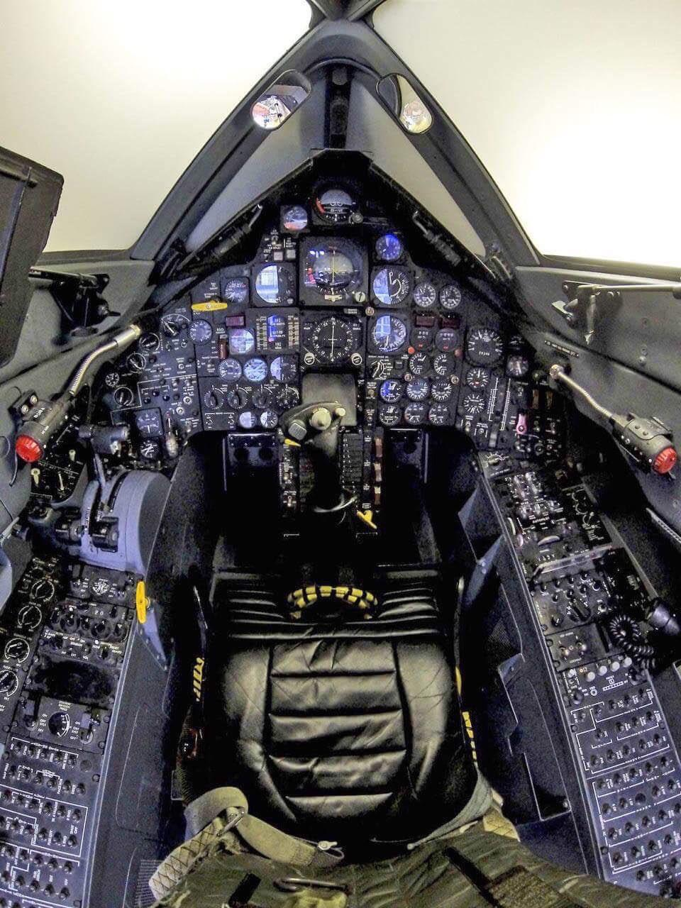 the cockpit of sr