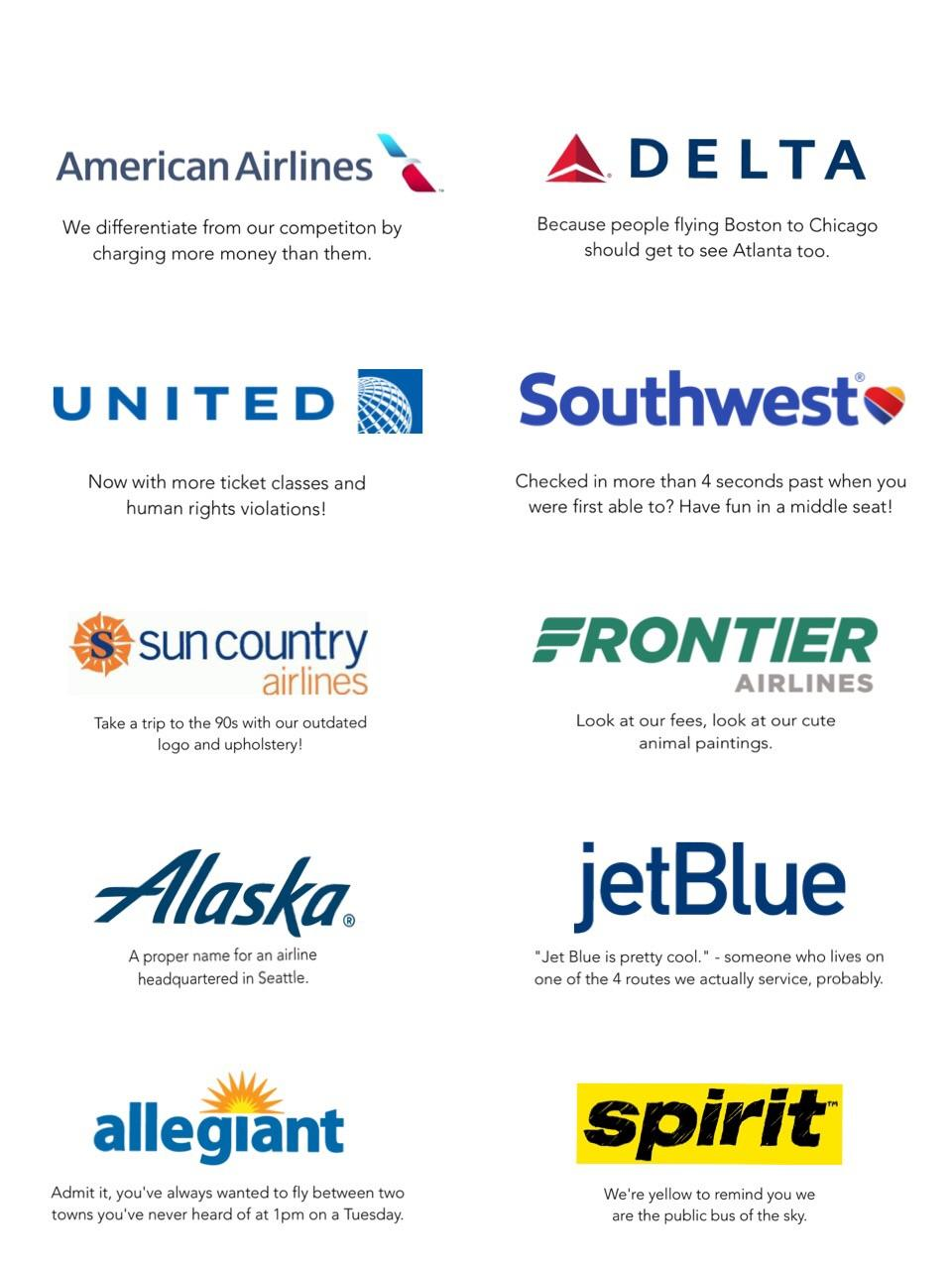 American Airlines Slogan : american, airlines, slogan, Every, Airline, Honest, Slogan, Funny