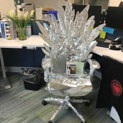 Iron Throne Chair Backboard Handicap Toilet Office Do Jiaq Win No Spoilers It Was A Coworkers Birthday Today And They Gave Her The Rh Reddit Com Game Of Thrones Diy