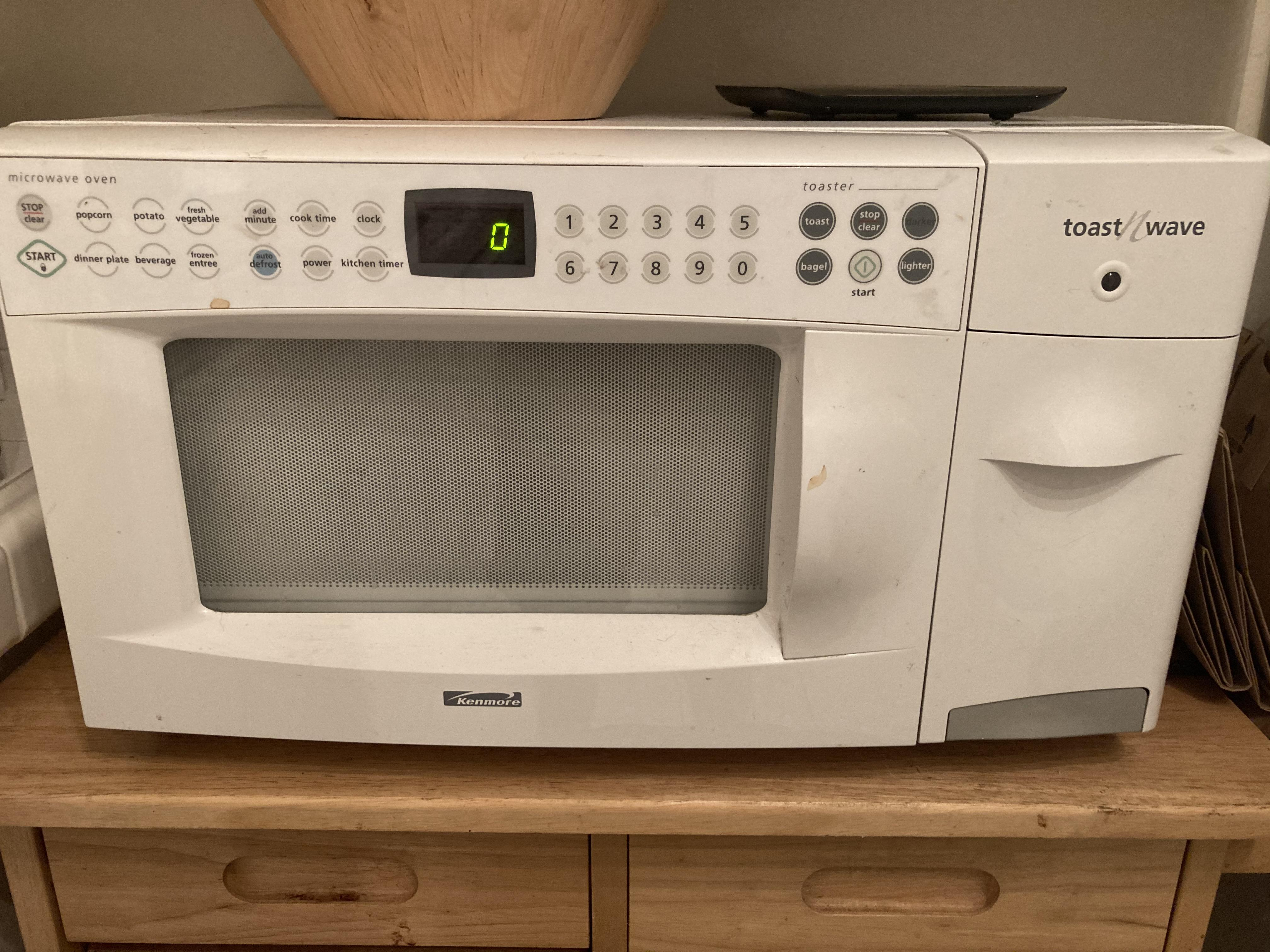 the microwave in my new apartment has a