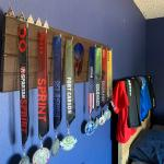 From December Of 2018 To Now This Was My First Year Doing Spartan Races And It S Been Life Changing One More Beast To Go Next Month Here Is My Homemade Medal Display