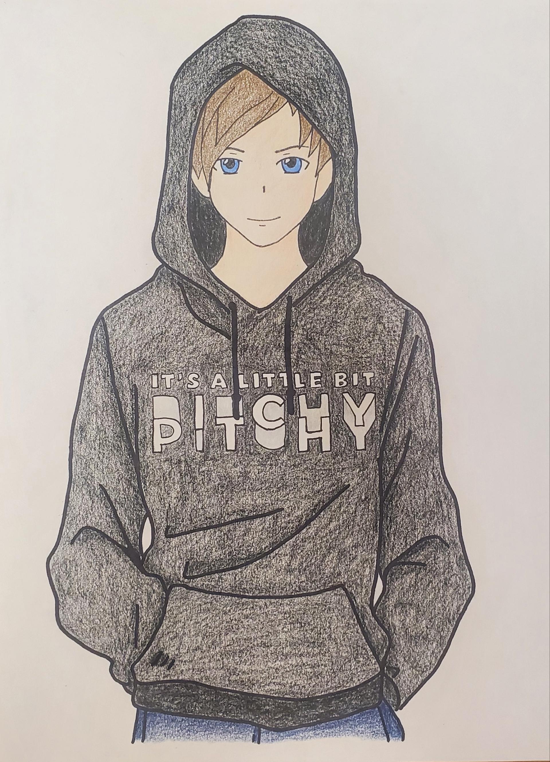 Boy Hoodie Drawing : hoodie, drawing, Anime, Style, Roomie, Drawing, Sister, RoomieOfficial