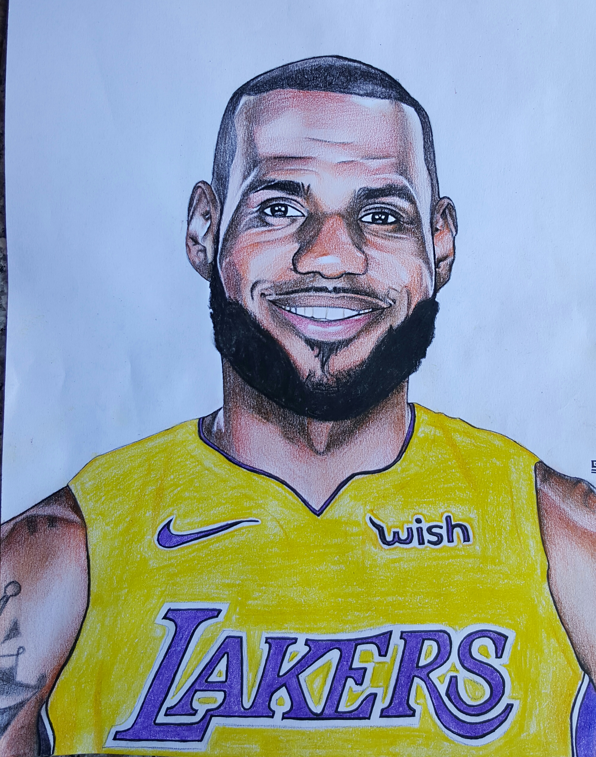 How To Draw Lebron James : lebron, james, LeBron, Drawing, Lakers