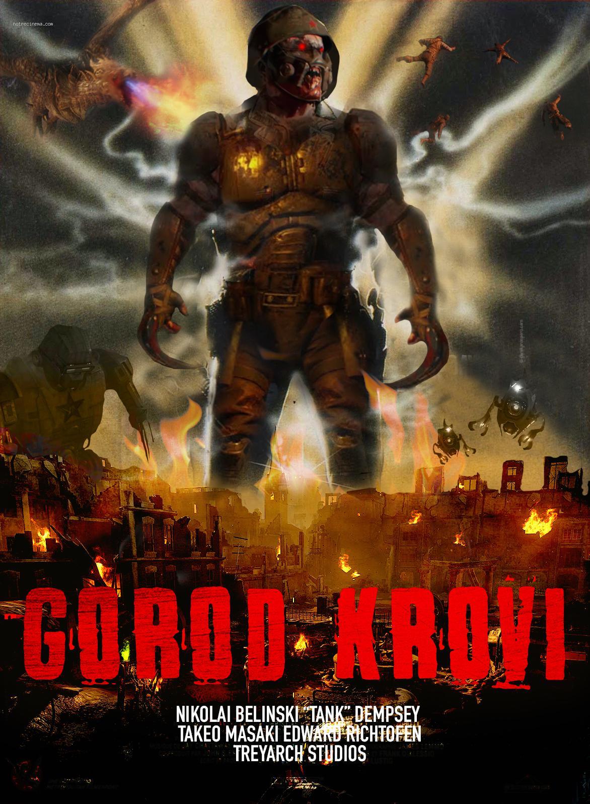 Gorod Krovi Map : gorod, krovi, Zombie, Classic, Horror, Movie, Posters:, GOROD, KROVI, MANIAC, (1990), CODZombies