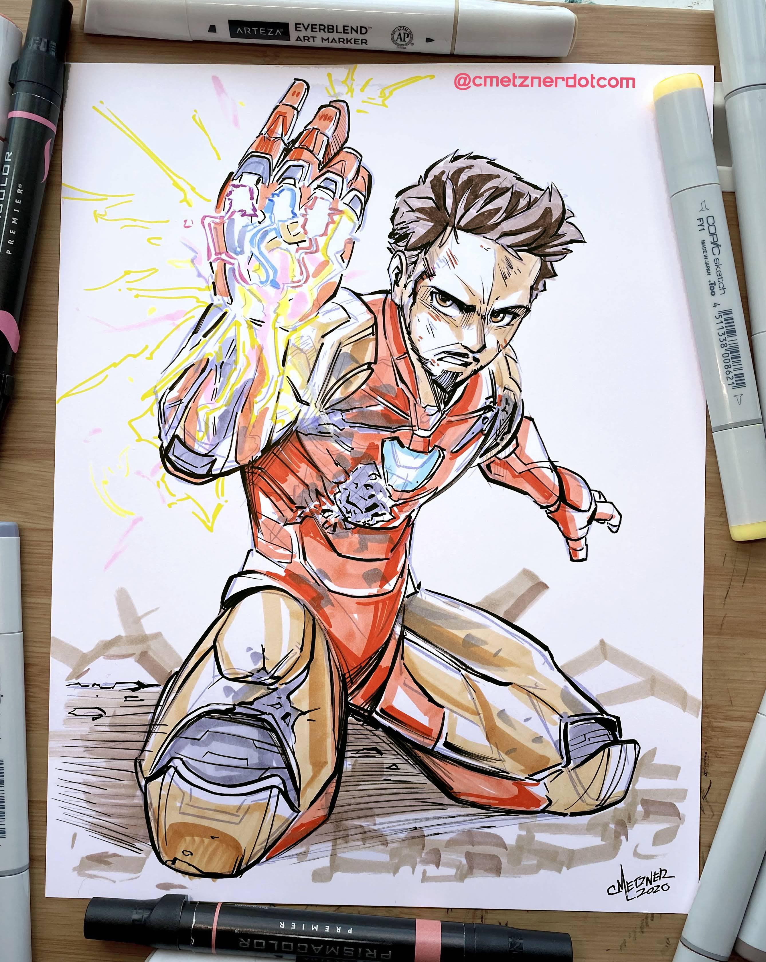 Here S My Drawing Of Iron Man Marvelstudios