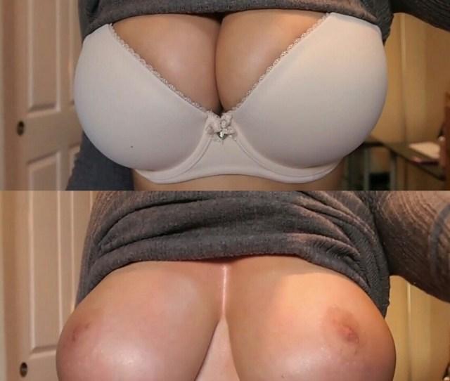 Tight Bra V S Full On Naked Tits