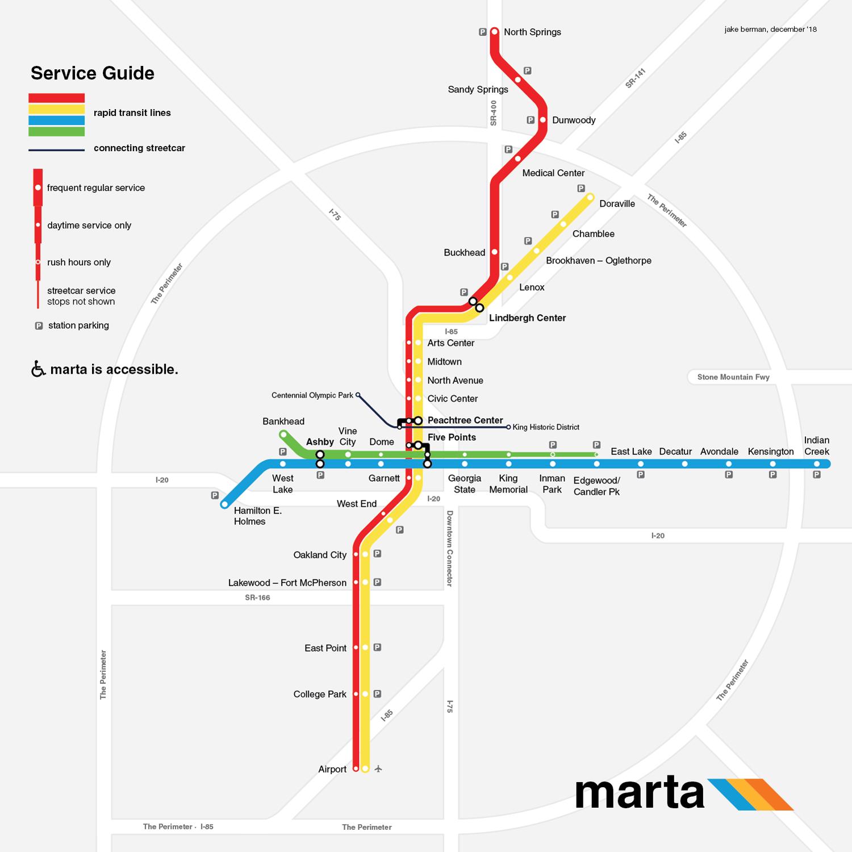 Atlanta Marta Station Map