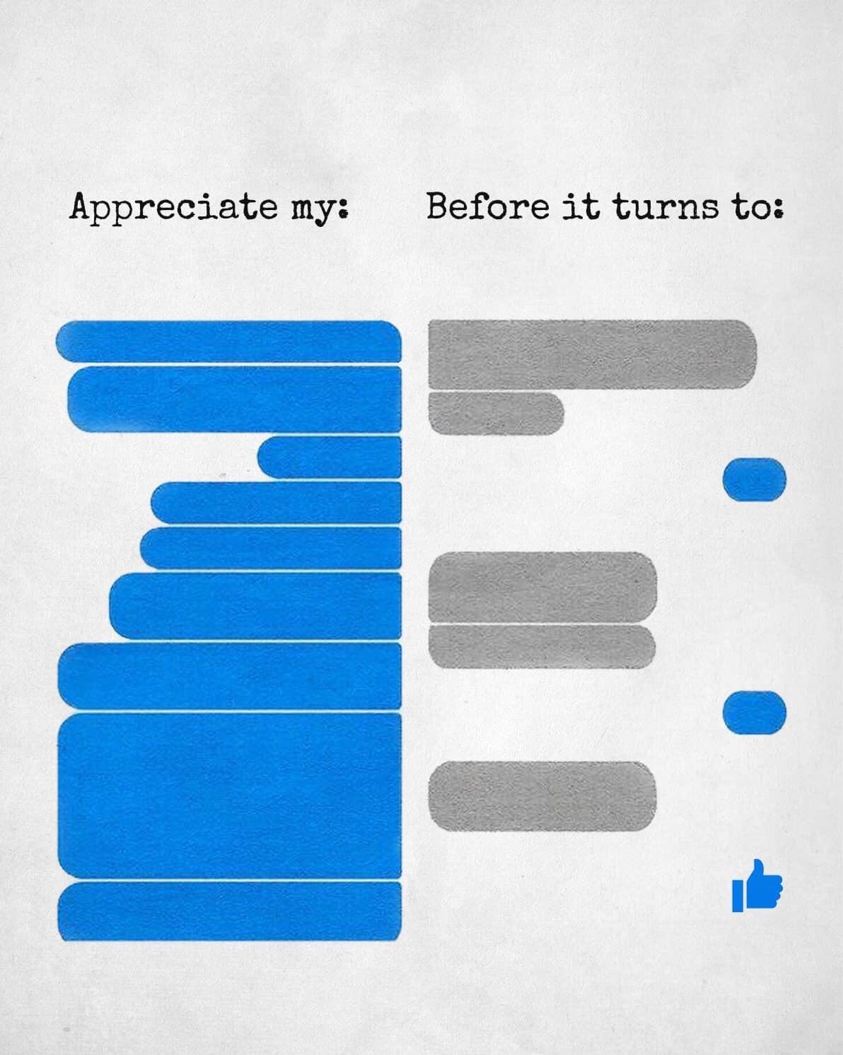 appreciate me before i
