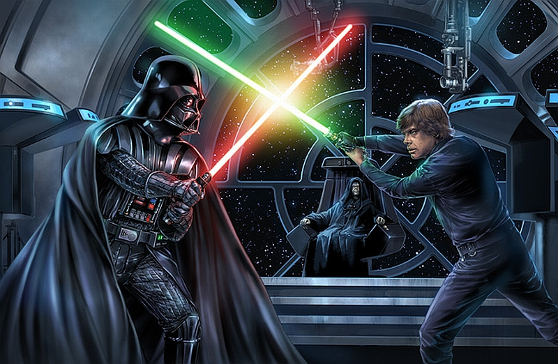 Lightsaber Duel On the Second Death Star