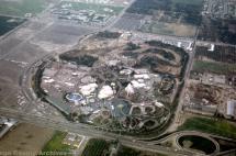 Aerial View Of Disneyland 1962