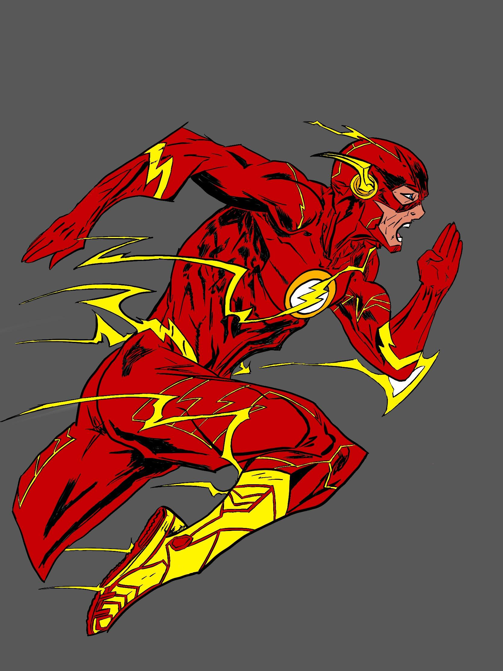 The Flash Cartoon Drawing : flash, cartoon, drawing, Digital, Drawing, Flash!, Theflash