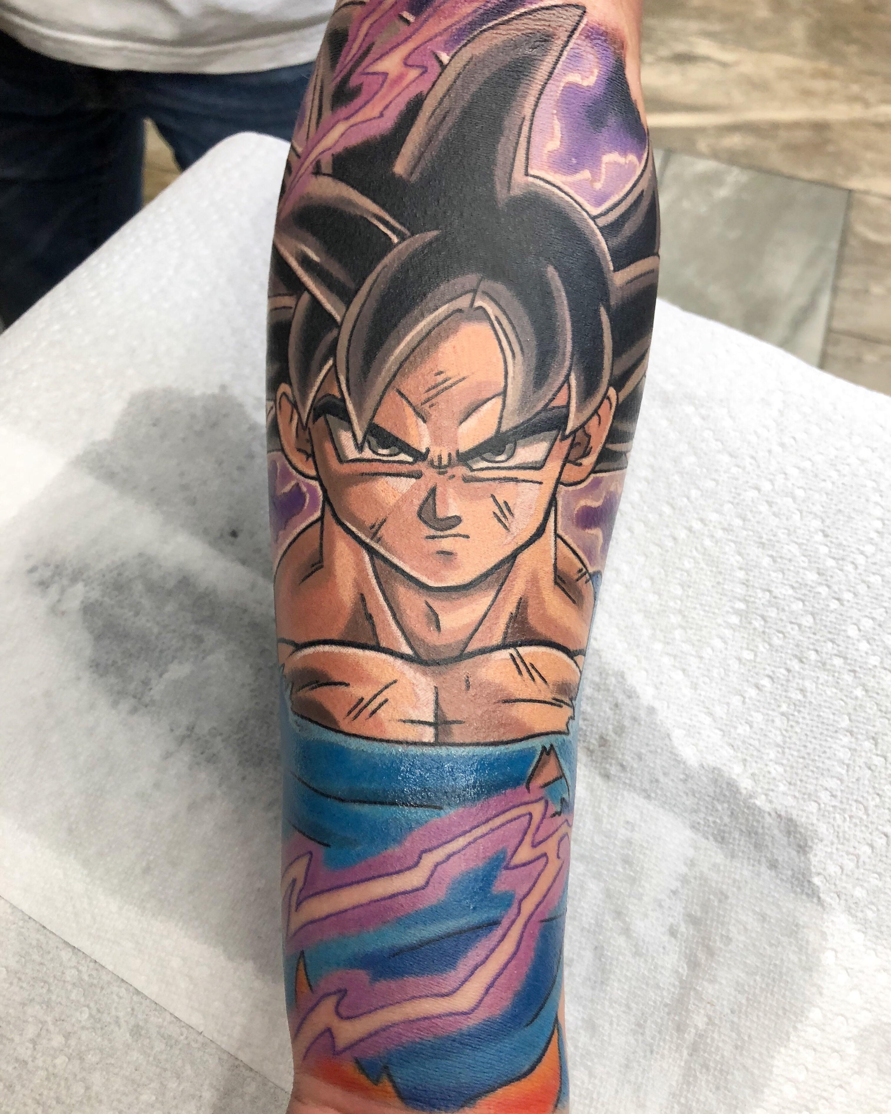 Goku Ultra Instinct Tattoo : ultra, instinct, tattoo, Ultra, Instinct, Andrew, Douglas, Dragon, Tattoo, Cedar, Rapids, Tattoos