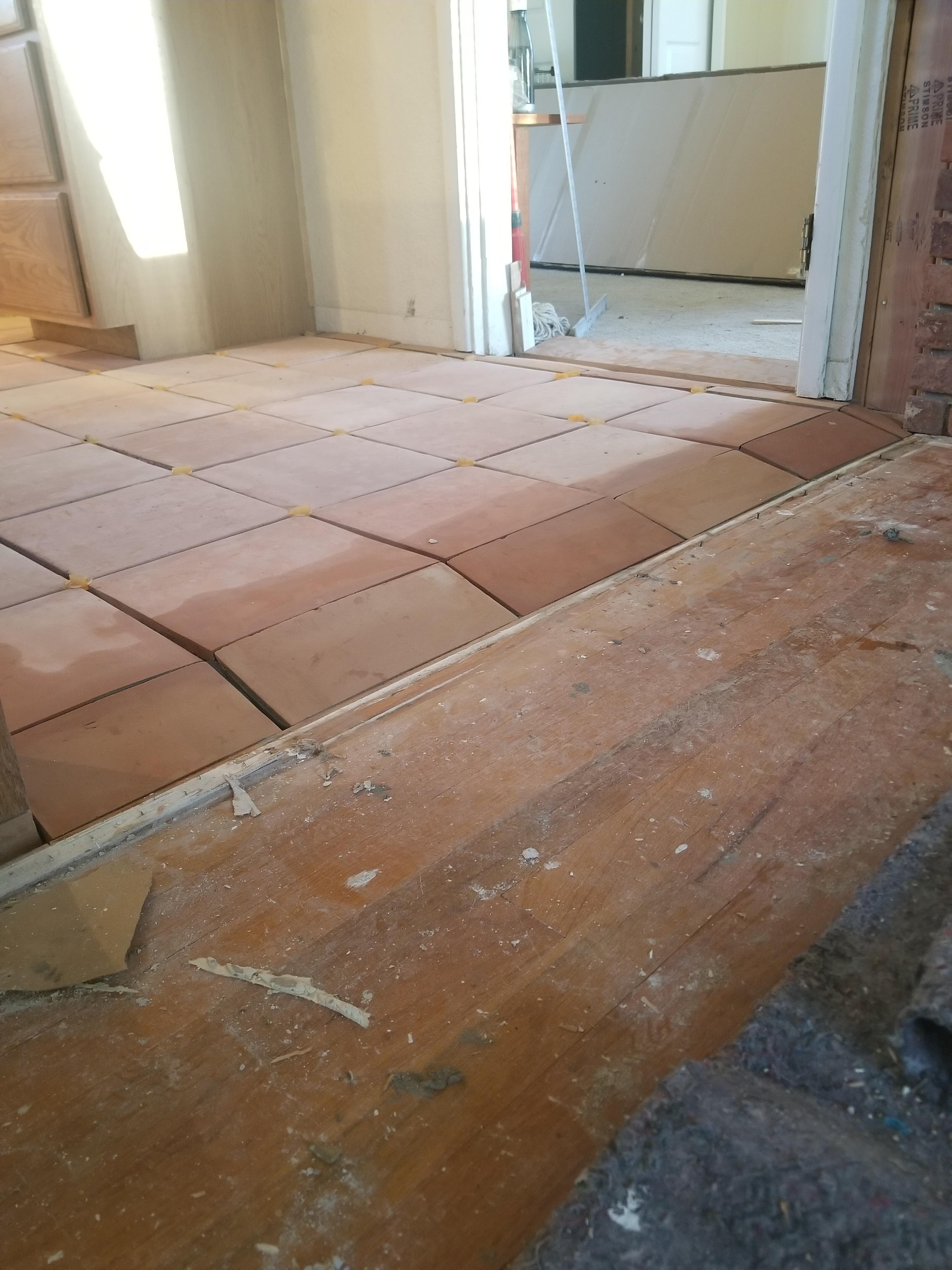 saltillo tile would look higher
