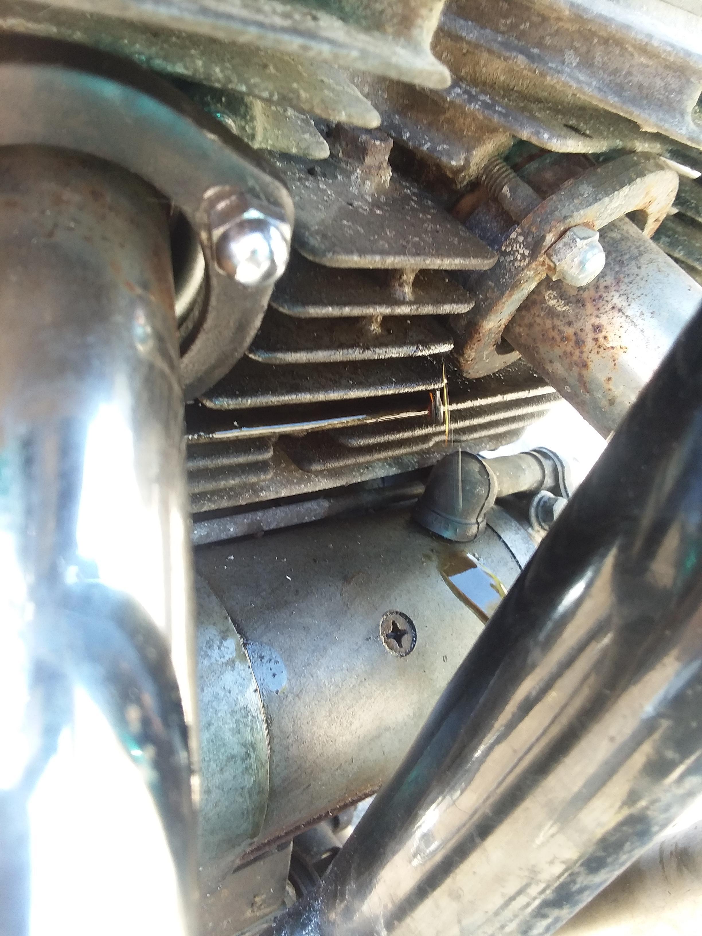 my 1985 honda rebel 250 is leaking oil