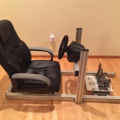 Racing Simulator Chair Plans Desk Leather Diy Sim Rig 8020 Aluminum No Cutting Involved Simracing Rigsdiy