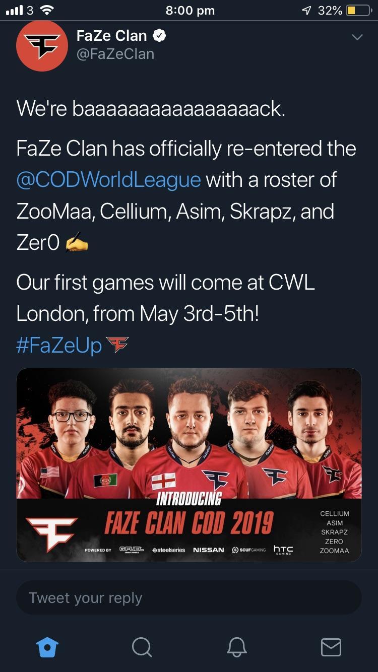 new faze clan roster