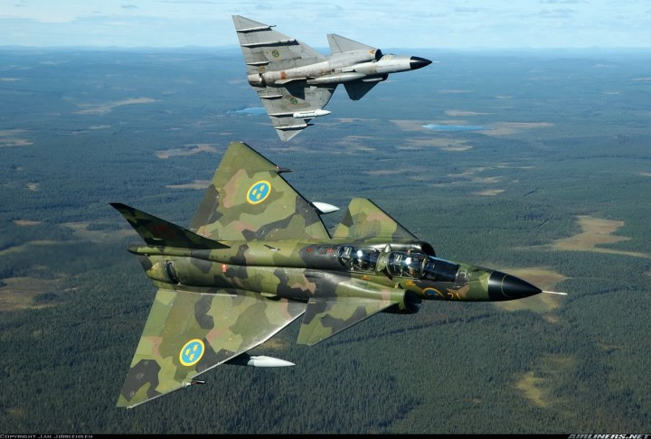 Saab 37 Viggen Jet Fighter 1600×1080