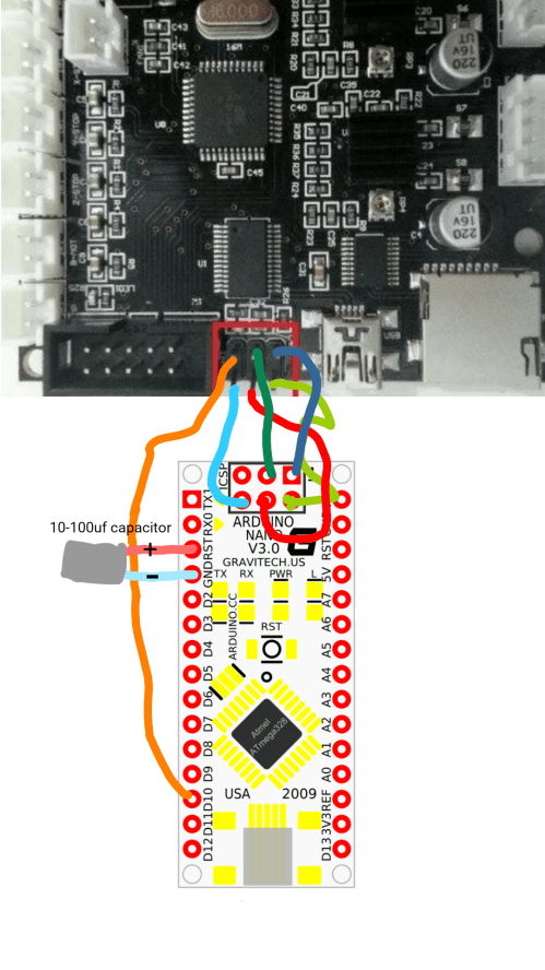 small resolution of  corrected bootloader wiring diagram for arduino nano