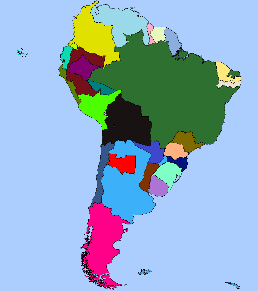 Alternate South America Thing Imaginarymaps