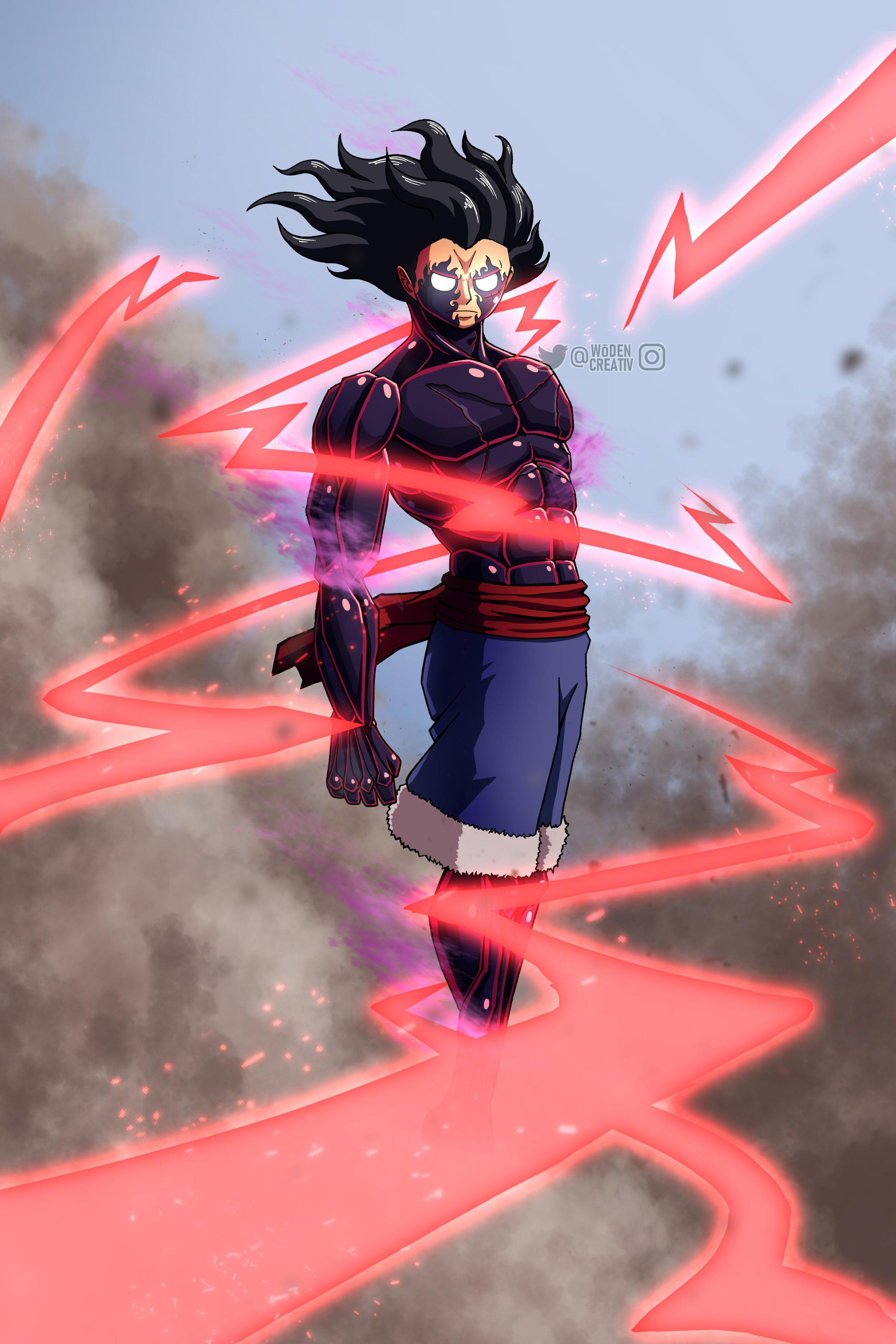 Luffy transforms to gear 5 the continuation of goku vs saitama, now called anime war. 5th Luffy Gear 3