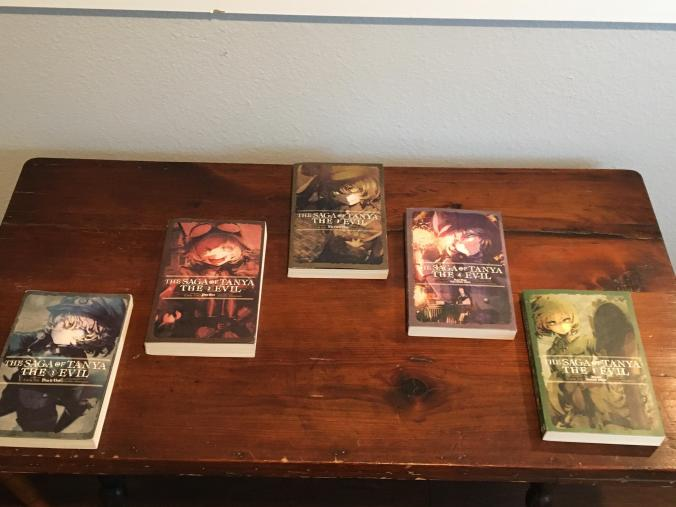 My Tanya the evil light novel collection so far!!
