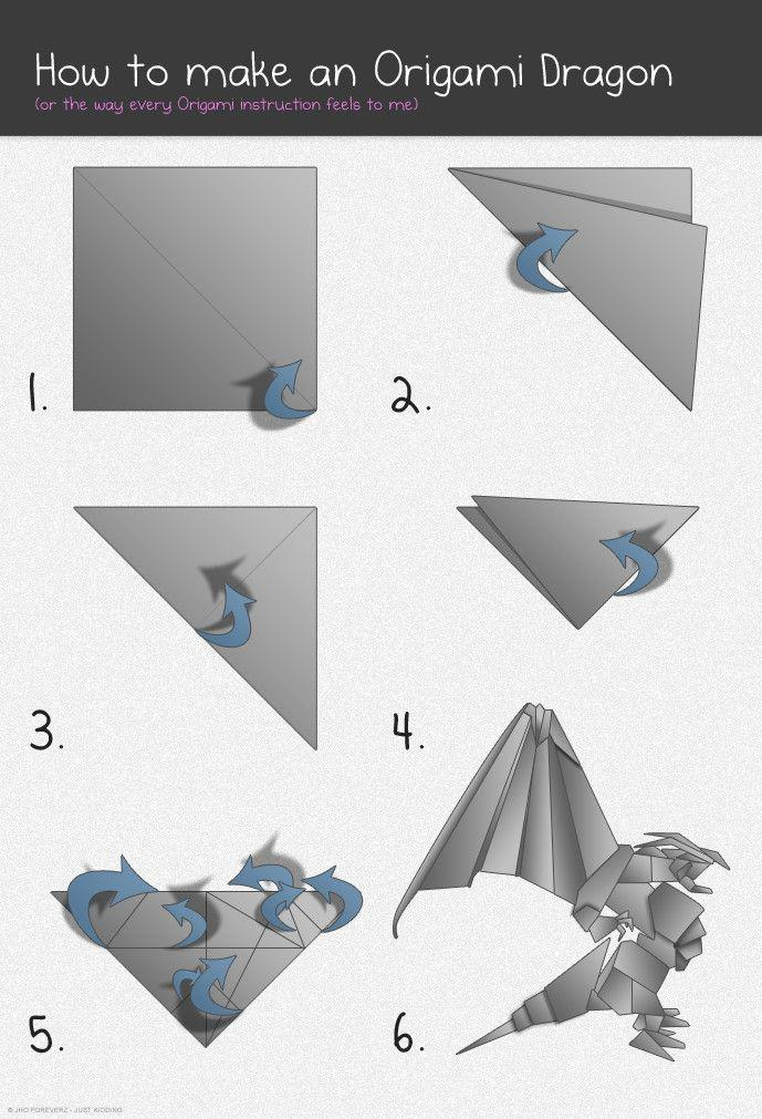How To Make An Origami Dragon : origami, dragon, Origami, Dragon, Restofthefuckingowl