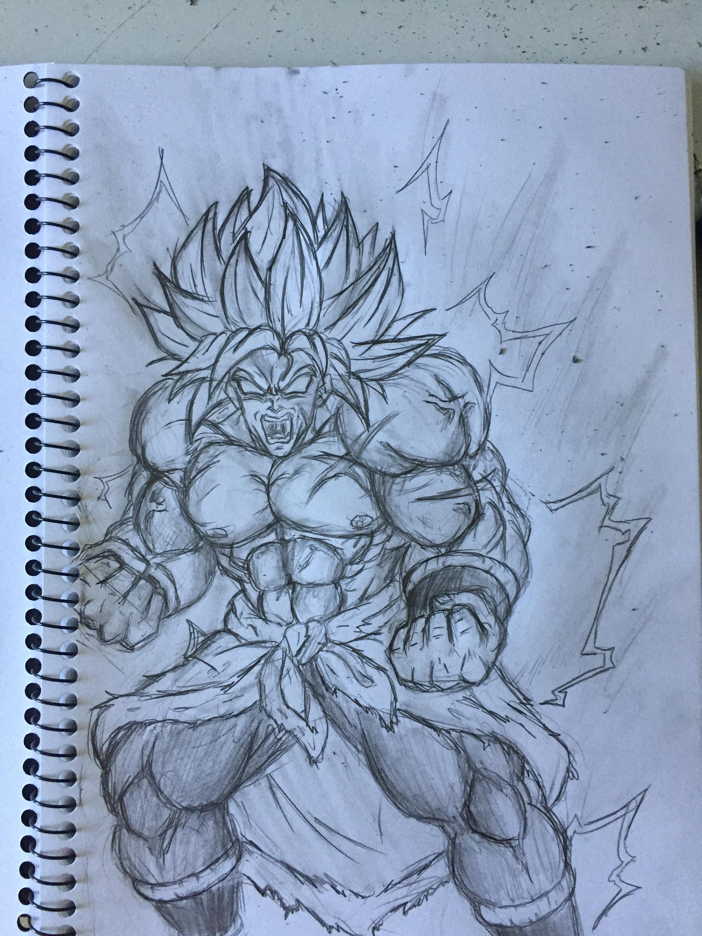 Broly Sketch — Weasyl