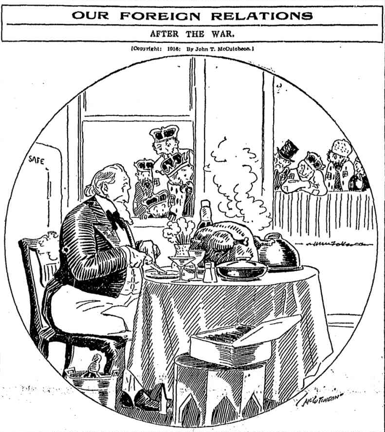 [Aug. 29, 1916] Editorial Cartoon: Our foreign relations