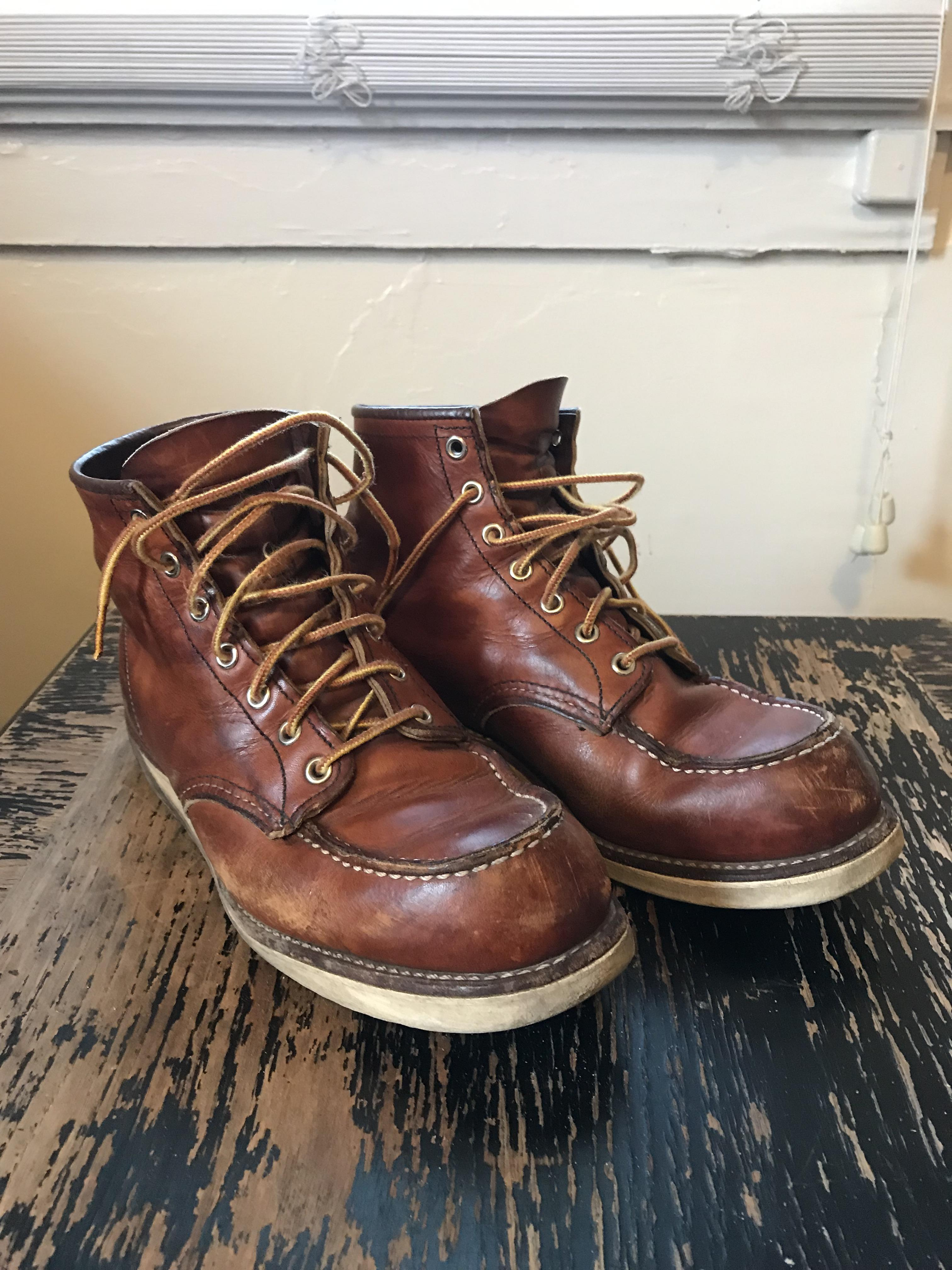 red wing 875 before