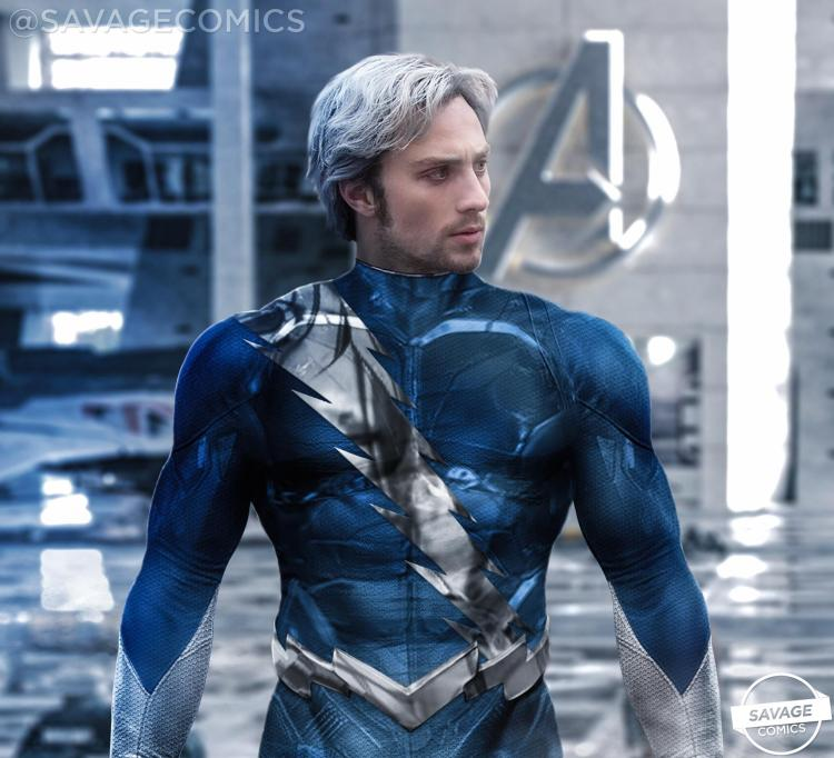 Quicksilver Redesign (Aaron Taylor Johnson) : Marvel