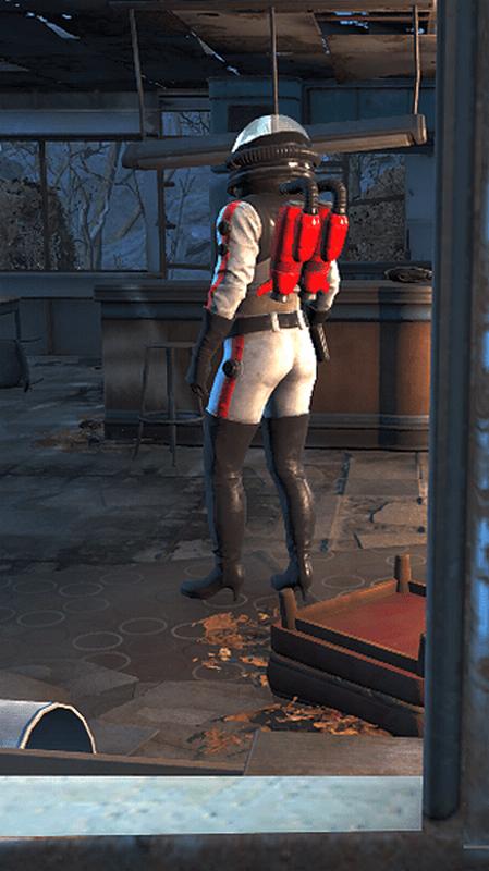 Fallout 4 - Nuka Girl Rocket Suit - Unique Nuka World... - YouTube
