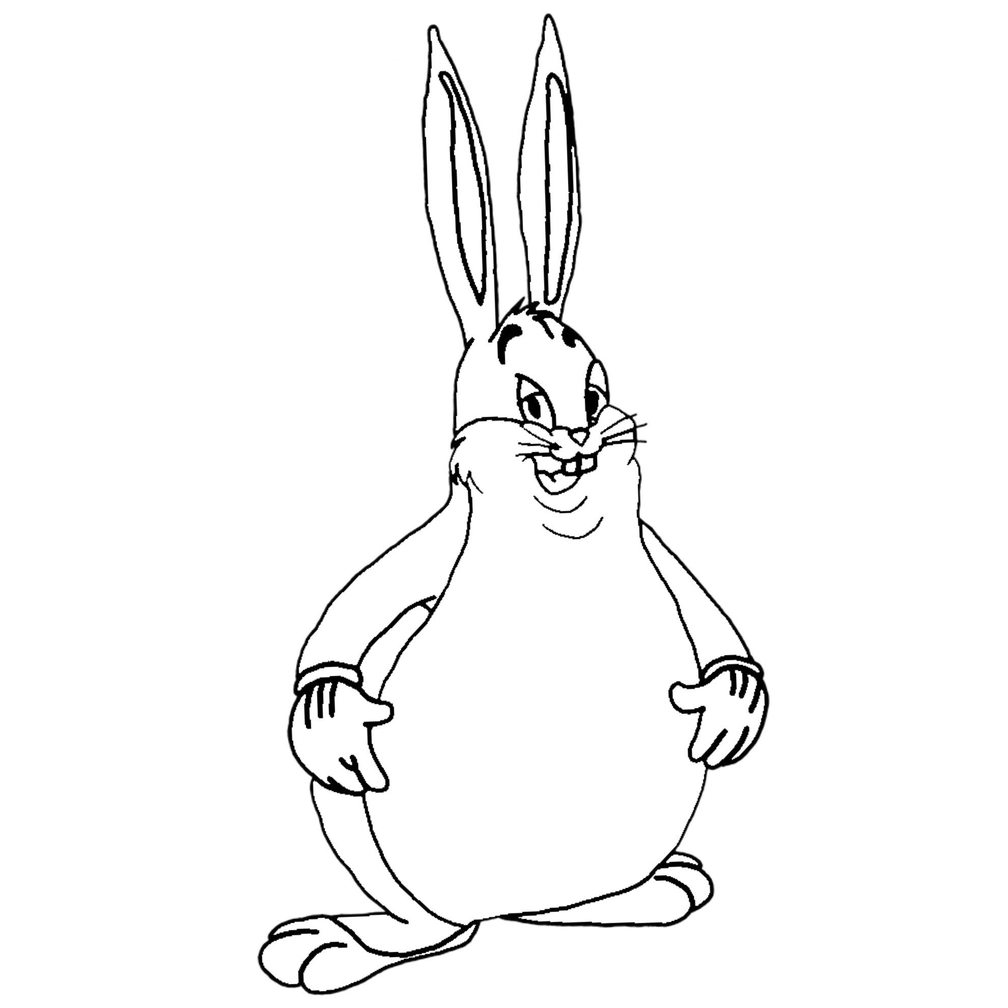 Big Chungus that you can print and color it. : BigChungus
