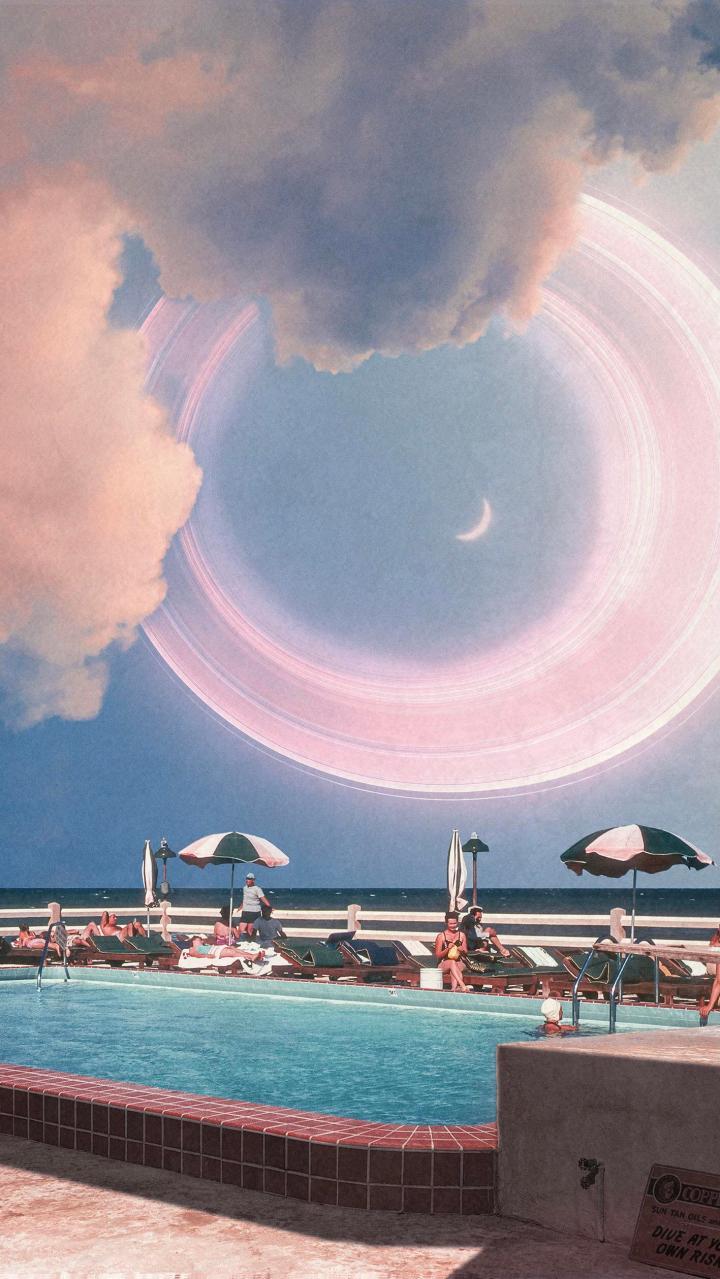 Poolside Halo. [OC]