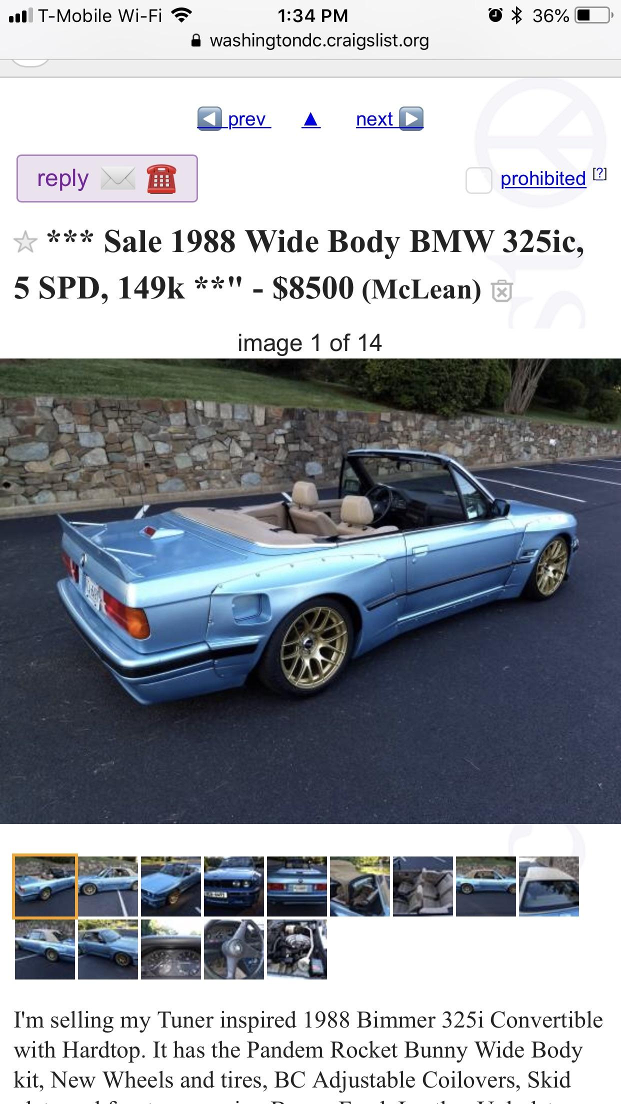 Bmw 325i For Sale Craigslist : craigslist, Body?, Sale,, Won't, Shitty_Car_Mods