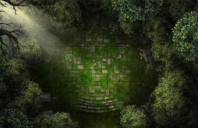 map grove battle mystical dnd forest rpg maps druid tiles tile encounter pathfinder patreon fantasy oc battlemaps roll20 trap modular