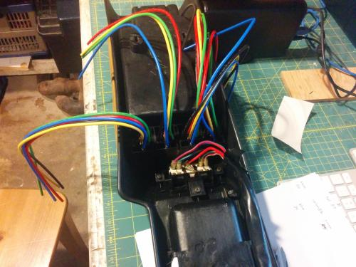 small resolution of started the na relay window mod many many wires