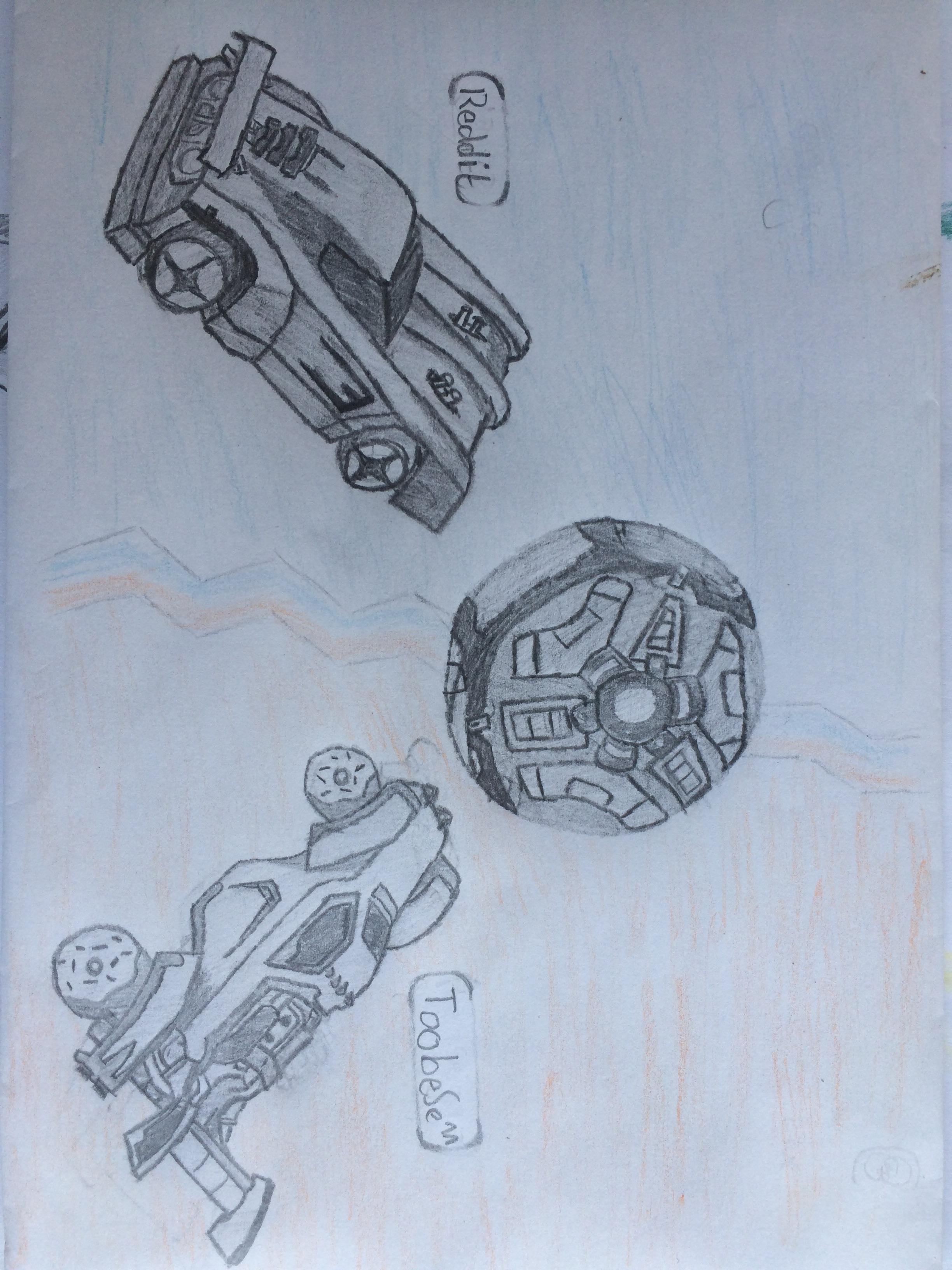 Rocket League Drawing : rocket, league, drawing, Tried, Drawing, Rocket, League, RocketLeague