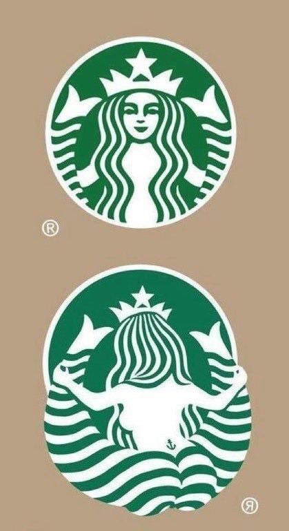 Starbucks mermaid is looking good : funny