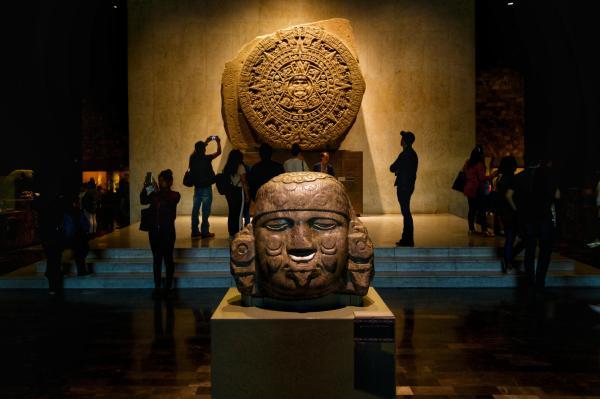 Piedra Del Sol Museo Nacional De Antropologia Mexico