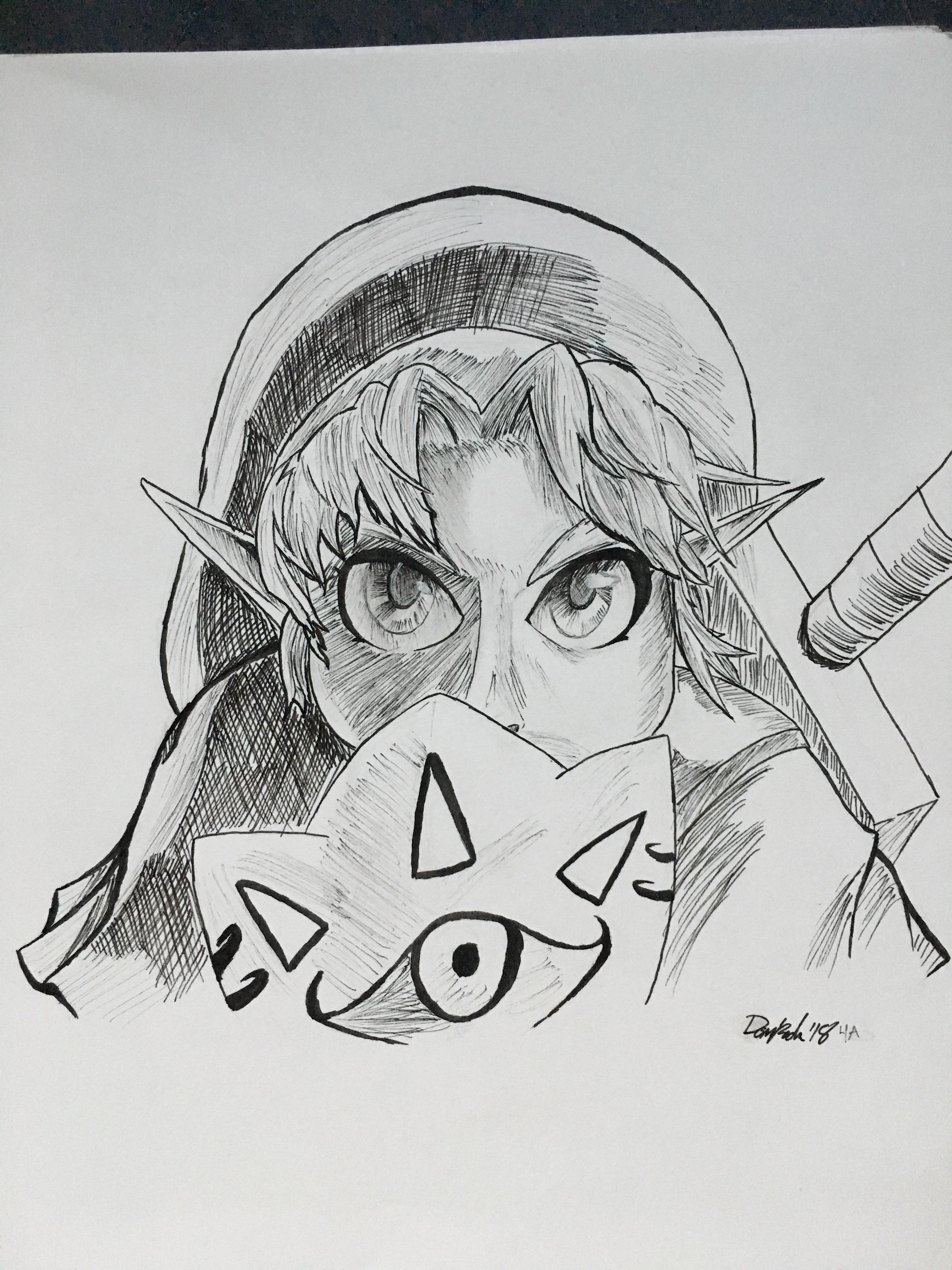 Majora's Mask Drawing : majora's, drawing, Drawing, Child, Majora's, Months, Zelda