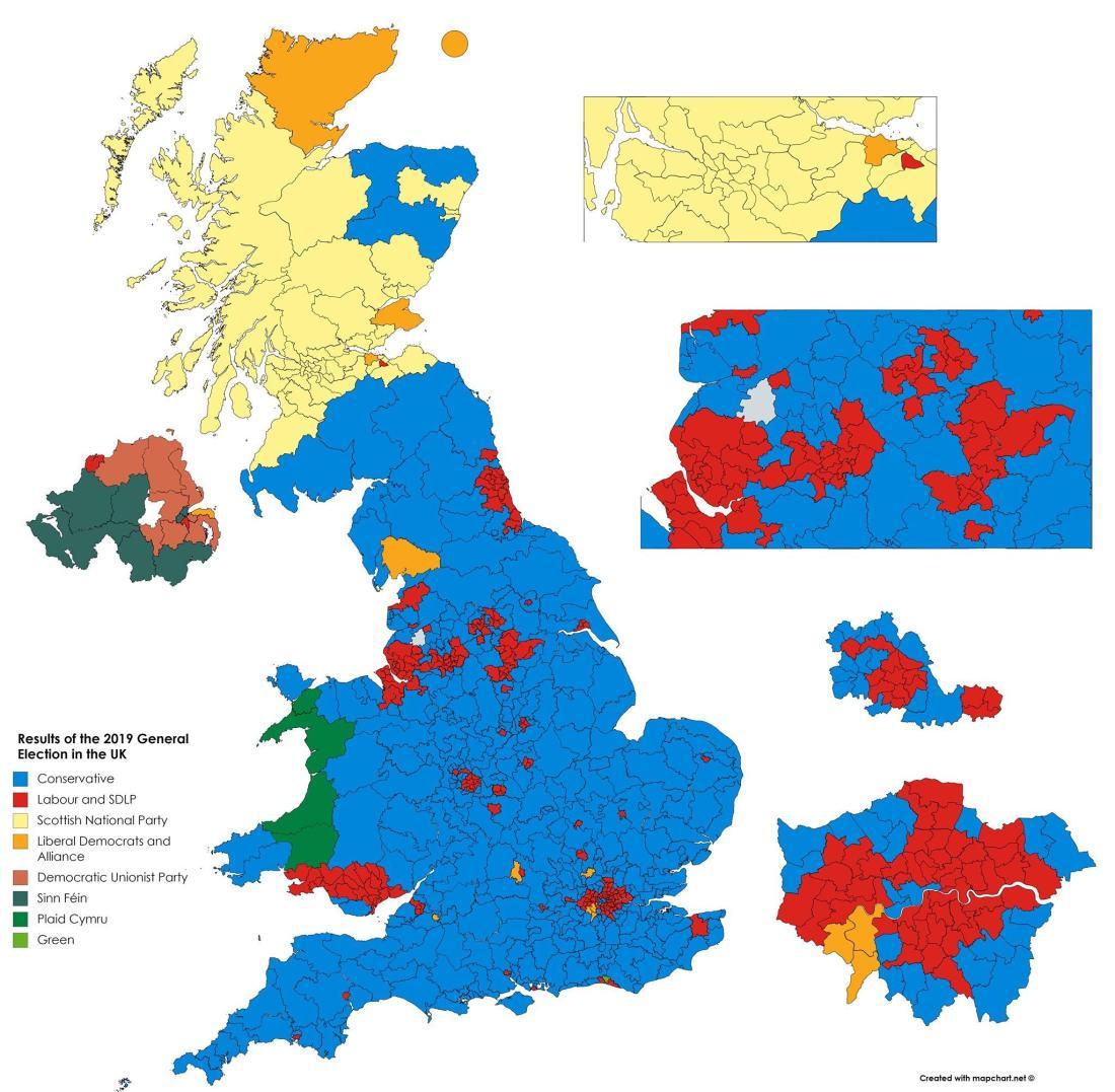Image result for uk general election 2019 results