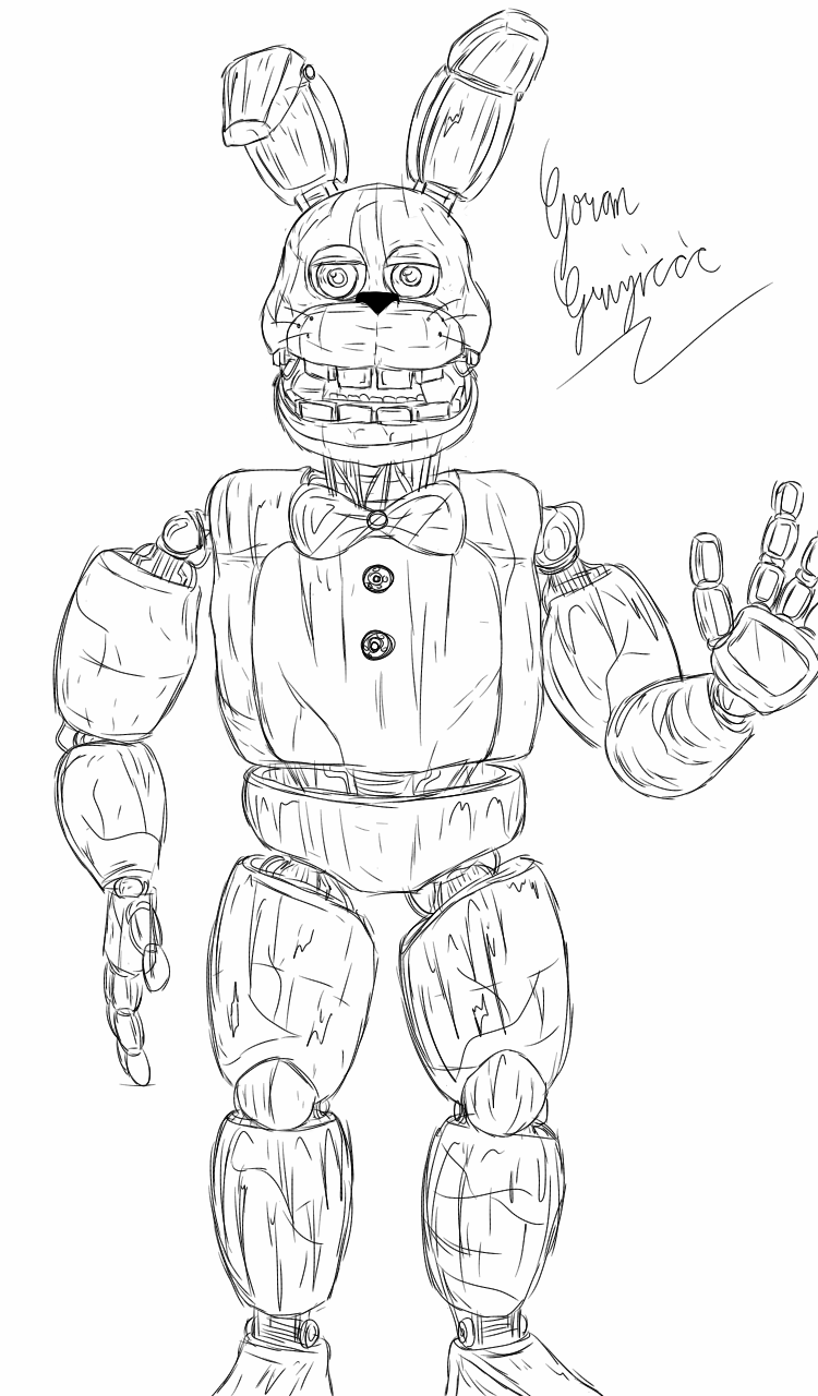 Following up Unnightmare Freddy, I present a drawing of