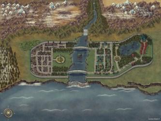 Fantasy Mixed Theme Seaside City Elven/Human : battlemaps