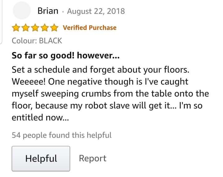 on a knockoff roomba