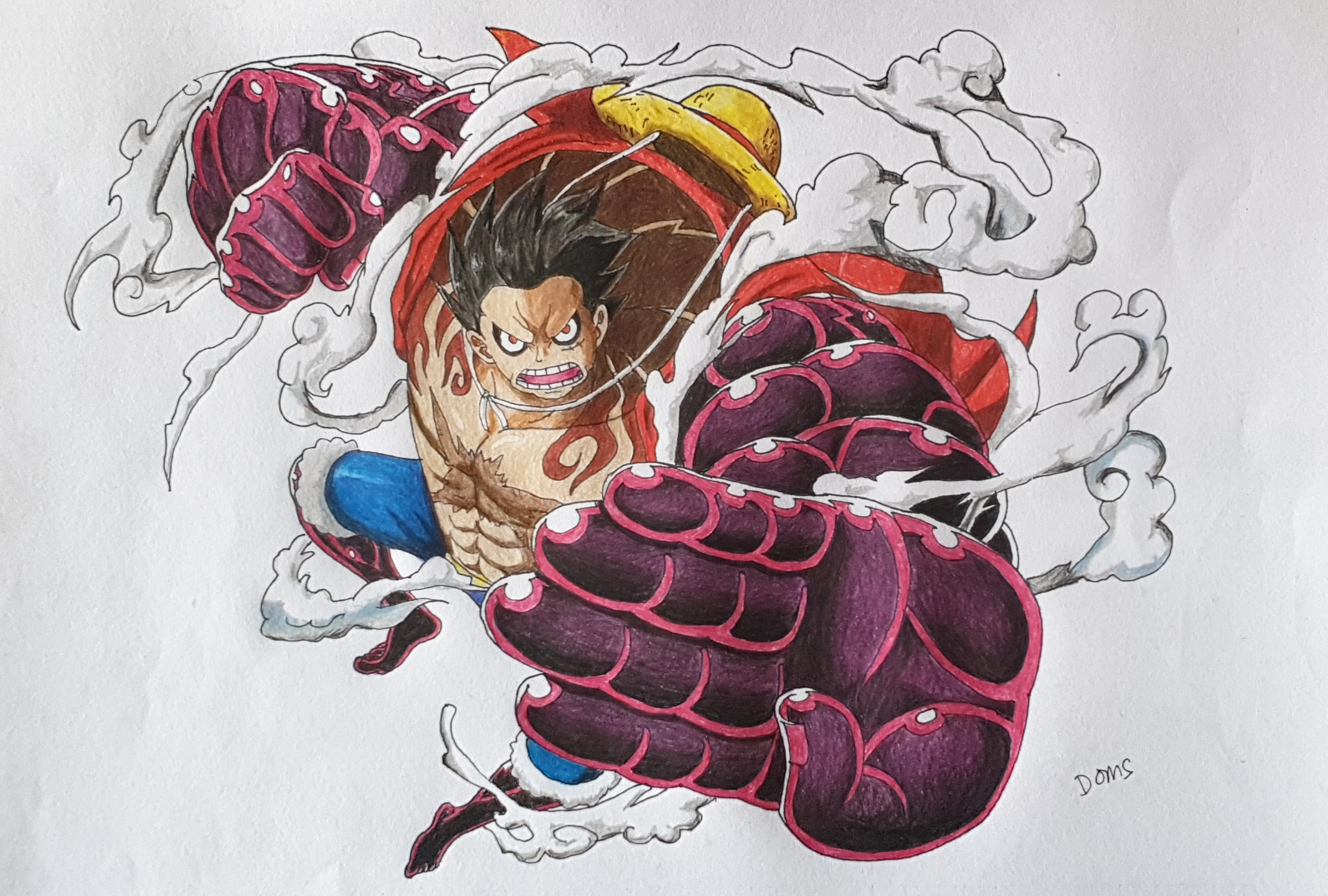 One piece treasure cruise world journey monkey d luffy. Hi Guys Here Is My Drawing Of Monkey D Luffy Gear 4 What Do You Think Onepiece