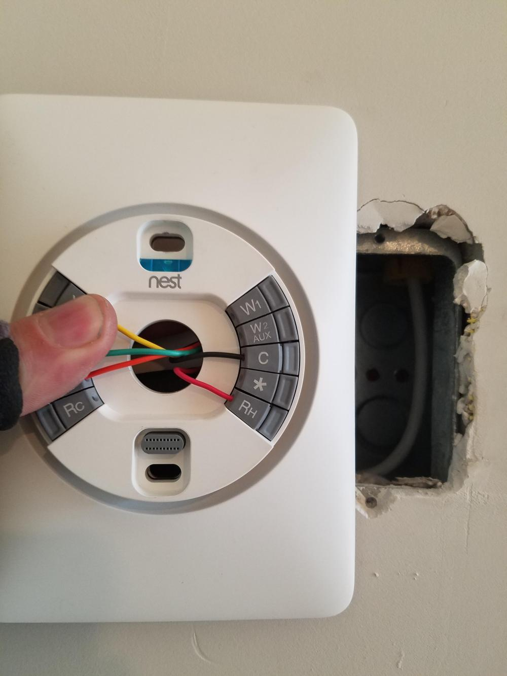 medium resolution of i m contracted to install these nest thermostats in a downtown condo nest thermostat wiring plate